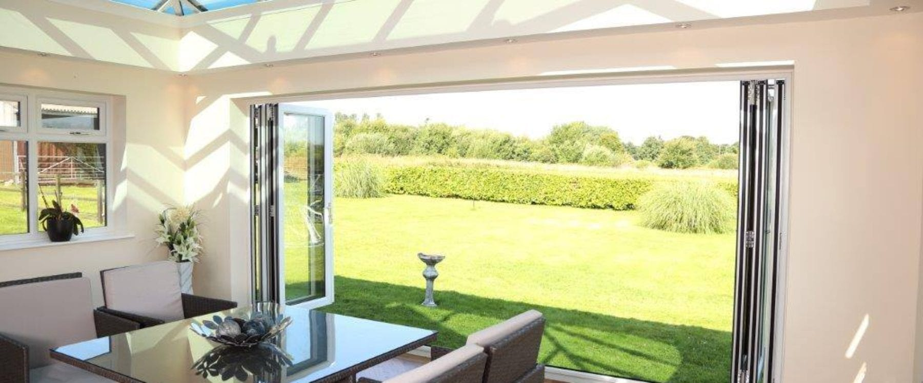 Open Bifold Doors into Garden