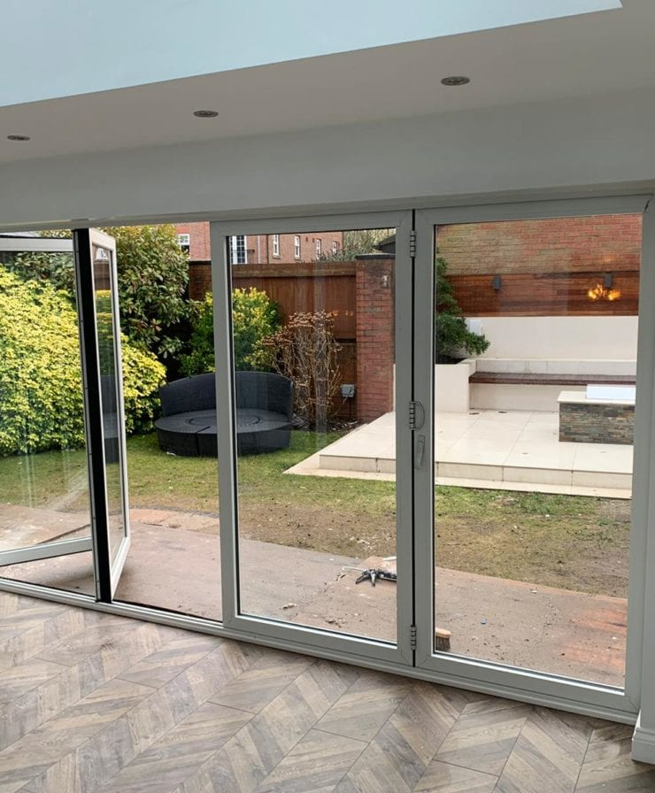 Bifold door installation in Liverpool
