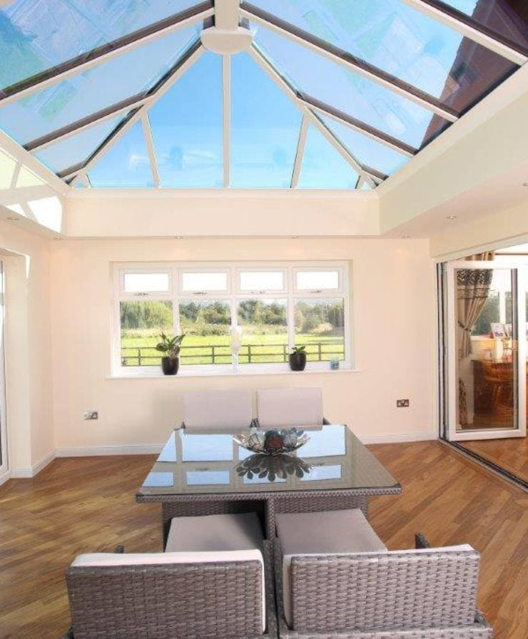 Orangery home extensions with bifold doors in Liverpool