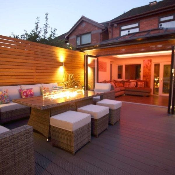 House extension in Liverpool with bifold doors and roof lantern