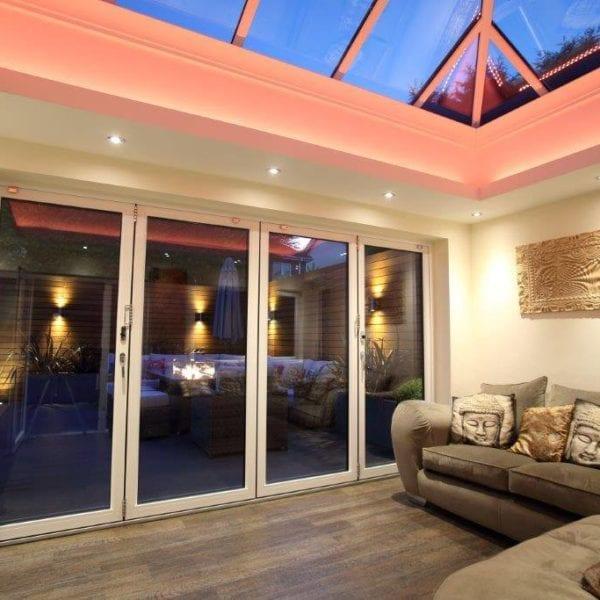 Interior look at bifold doors in Liverpool