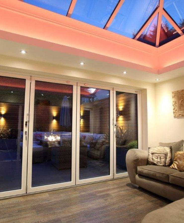 Interior look at bifold doors in Liverpool