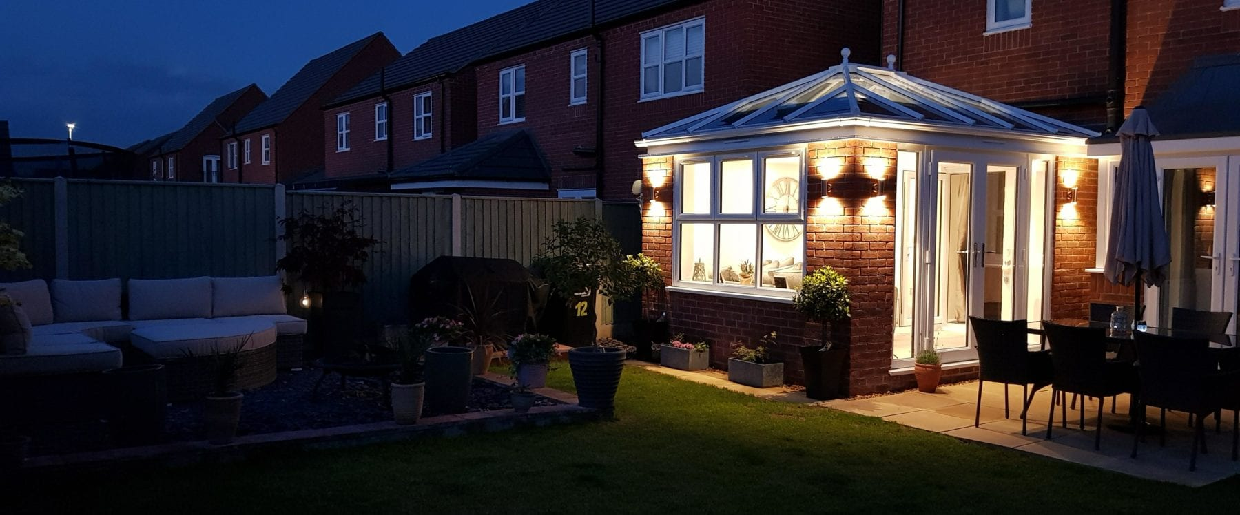 Middlewich home extension with roof lantern