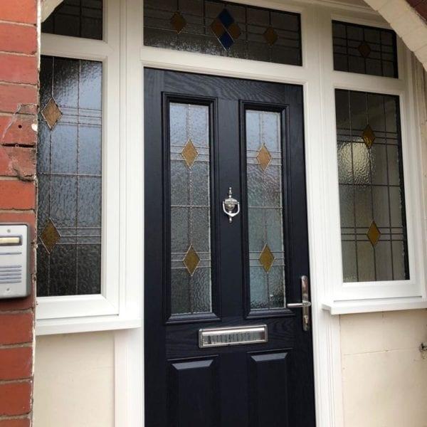 New front door installation in Liverpool