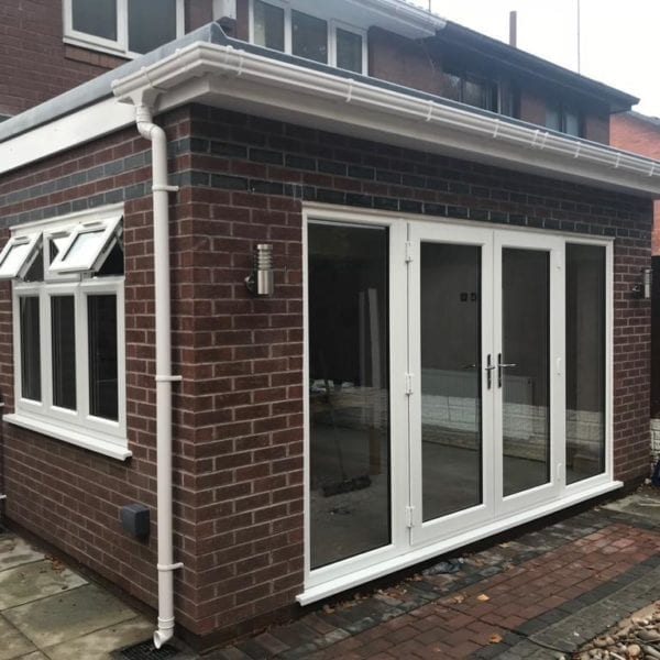 Simple single storey house extension